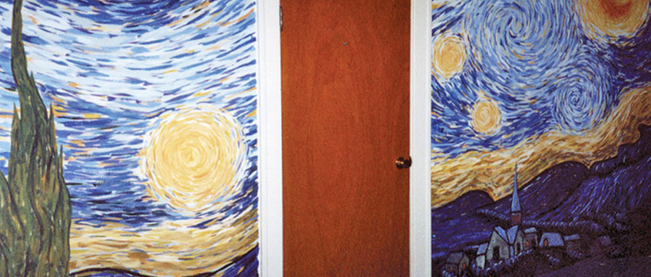 Vincent van Gogh's Starry Night Office Mural